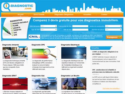 I-diagnostic.com, l'immobilier sur wordpress