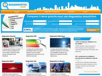 I-diagnostic.com, l'immobilier sur wordpress