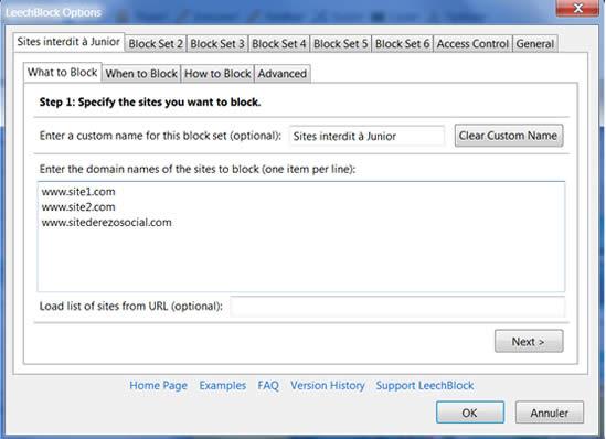 Tout sur leechblock, plug-in Firefox pour contrôler les sites visités